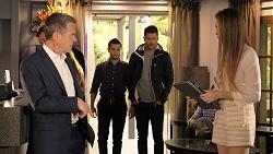 Paul Robinson, David Tanaka, Mark Brennan, Chloe Brennan in Neighbours Episode 7933