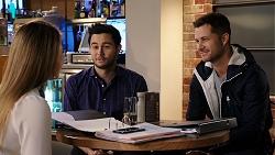 Chloe Brennan, David Tanaka, Mark Brennan in Neighbours Episode 7933