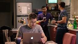 Mark Brennan, David Tanaka, Aaron Brennan in Neighbours Episode 7934
