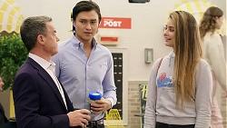 Paul Robinson, Leo Tanaka, Chloe Brennan in Neighbours Episode 7934