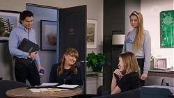 Leo Tanaka, Terese Willis, Piper Willis, Chloe Brennan in Neighbours Episode 7934