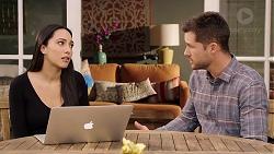 Mishti Sharma, Mark Brennan in Neighbours Episode 7934