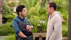 David Tanaka, Aaron Brennan in Neighbours Episode 7934