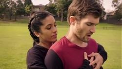 Yashvi Rebecchi, Ned Willis in Neighbours Episode 7935