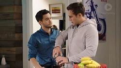 David Tanaka, Aaron Brennan in Neighbours Episode 7935