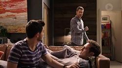 David Tanaka, Mark Brennan, Aaron Brennan in Neighbours Episode 7935