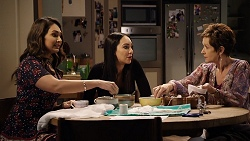 Dipi Rebecchi, Mishti Sharma, Susan Kennedy in Neighbours Episode 7936