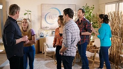 Gary Canning, Xanthe Canning, Amy Williams, Dr Rob Carson, Shane Rebecchi, Dipi Rebecchi in Neighbours Episode 7936