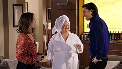 Amy Williams, Jemima Davies-Smythe, Leo Tanaka in Neighbours Episode 7938