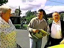 Claudia Harvey, Karl Kennedy, Harold Bishop in Neighbours Episode 2790