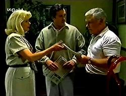 Madge Bishop, Karl Kennedy, Lou Carpenter in Neighbours Episode 2790