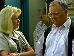 Madge Bishop, Claudia Harvey, Harold Bishop in Neighbours Episode 2790