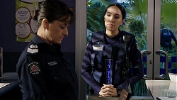 Snr. Sgt. Christina Lake, Mishti Sharma in Neighbours Episode 7940