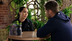 Mishti Sharma, Mark Brennan in Neighbours Episode 7940