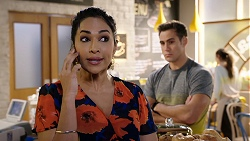 Dipi Rebecchi, Aaron Brennan in Neighbours Episode 7940