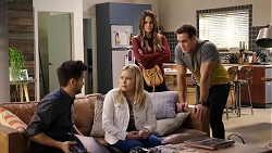David Tanaka, Xanthe Canning, Elly Conway, Aaron Brennan in Neighbours Episode 7940