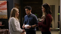 Xanthe Canning, David Tanaka, Elly Conway in Neighbours Episode 7941