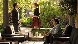 Ned Willis, Chloe Brennan, Yashvi Rebecchi in Neighbours Episode 7941