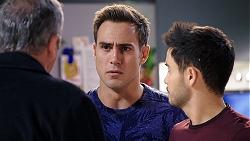 Karl Kennedy, Aaron Brennan, David Tanaka in Neighbours Episode 7941