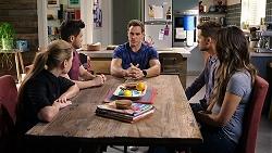 Chloe Brennan, David Tanaka, Aaron Brennan, Mark Brennan, Elly Conway in Neighbours Episode 7941
