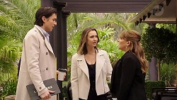 Leo Tanaka, Amy Williams, Terese Willis in Neighbours Episode 7946