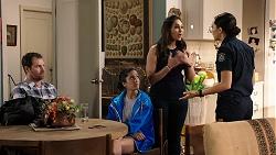 Shane Rebecchi, Yashvi Rebecchi, Dipi Rebecchi, Mishti Sharma in Neighbours Episode 7947