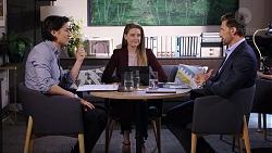 Leo Tanaka, Chloe Brennan, Pierce Greyson in Neighbours Episode 7949