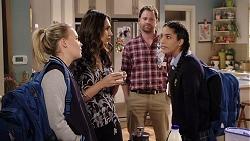 Xanthe Canning, Dipi Rebecchi, Shane Rebecchi, Yashvi Rebecchi in Neighbours Episode 7950