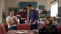 Aaron Brennan, Elly Conway, Mark Brennan, Piper Willis in Neighbours Episode 7951