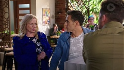 Sheila Canning, Aaron Brennan, Mark Brennan in Neighbours Episode 7951