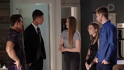 Aaron Brennan, Tyler Brennan, Chloe Brennan, Piper Willis, Mark Brennan in Neighbours Episode 7953