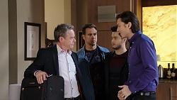 Paul Robinson, Aaron Brennan, David Tanaka, Leo Tanaka in Neighbours Episode 7953