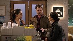 Dipi Rebecchi, Shane Rebecchi, Mishti Sharma in Neighbours Episode 7954