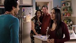 Pavan Nahal, Dipi Rebecchi, Shane Rebecchi, Mishti Sharma in Neighbours Episode 7954