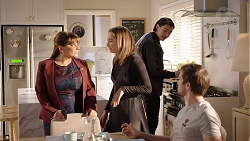 Terese Willis, Piper Willis, Leo Tanaka, Ned Willis in Neighbours Episode 7956