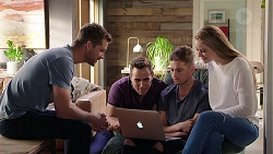 Mark Brennan, Aaron Brennan, Tyler Brennan, Chloe Brennan in Neighbours Episode 7956