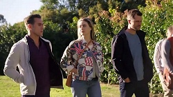 Aaron Brennan, Chloe Brennan, Mark Brennan in Neighbours Episode 7956