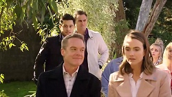 David Tanaka, Aaron Brennan, Paul Robinson, Amy Williams in Neighbours Episode 7956