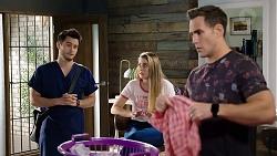 David Tanaka, Chloe Brennan, Aaron Brennan in Neighbours Episode 7957