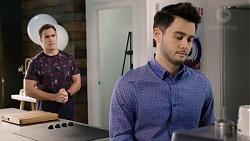 Aaron Brennan, David Tanaka in Neighbours Episode 7957