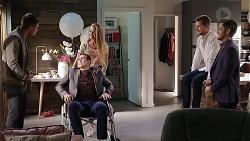 Tyler Brennan, Chloe Brennan, Aaron Brennan, Mark Brennan, David Tanaka in Neighbours Episode 7957