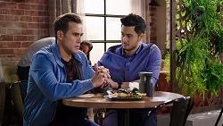 Aaron Brennan, David Tanaka in Neighbours Episode 7958