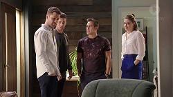 Mark Brennan, Tyler Brennan, Aaron Brennan, Chloe Brennan in Neighbours Episode 7958