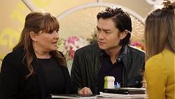 Terese Willis, Leo Tanaka, Chloe Brennan in Neighbours Episode 7959