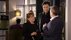 Terese Willis, Leo Tanaka, Paul Robinson in Neighbours Episode 7959