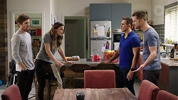 Ned Willis, Elly Conway, Aaron Brennan, Mark Brennan in Neighbours Episode 7962