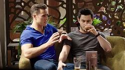 Aaron Brennan, David Tanaka in Neighbours Episode 7962