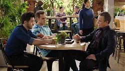 David Tanaka, Aaron Brennan, Paul Robinson in Neighbours Episode 7966