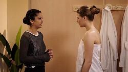 Yashvi Rebecchi, Chloe Brennan in Neighbours Episode 7966