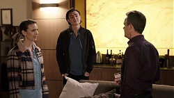Amy Williams, Leo Tanaka, Paul Robinson in Neighbours Episode 7966